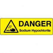Markers safety sign - Sodium Hypochlorite 014